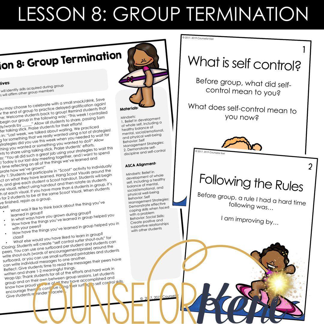 Self Control Group Counseling Program Impulse Control Self Control Activities Counseling Group Counseling Elementary School Counseling
