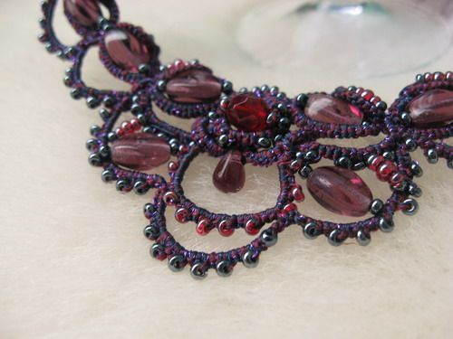 Necklace - Tatting with beads