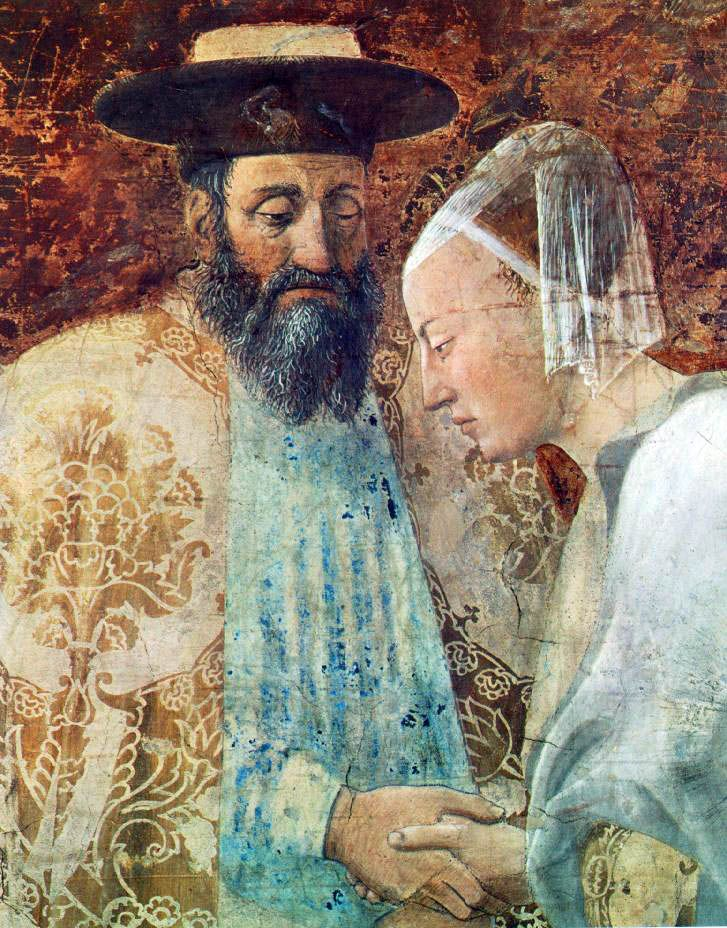Piero della Francesa: from The Meeting of Soloman and the Queen of Sheba (detail). Fresco. Arezzo, Italy.