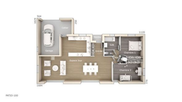 Maison Patio 100 Design - Les Maisons de Manon Faire construire sa - logiciel construire sa maison