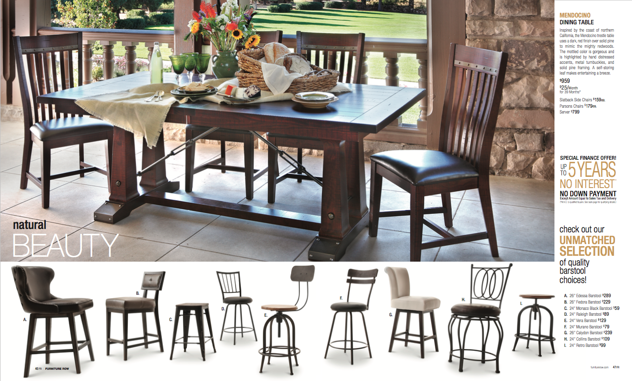 Natural beauty meets an unmatched selection in dining tables and bar stools at Oak Express