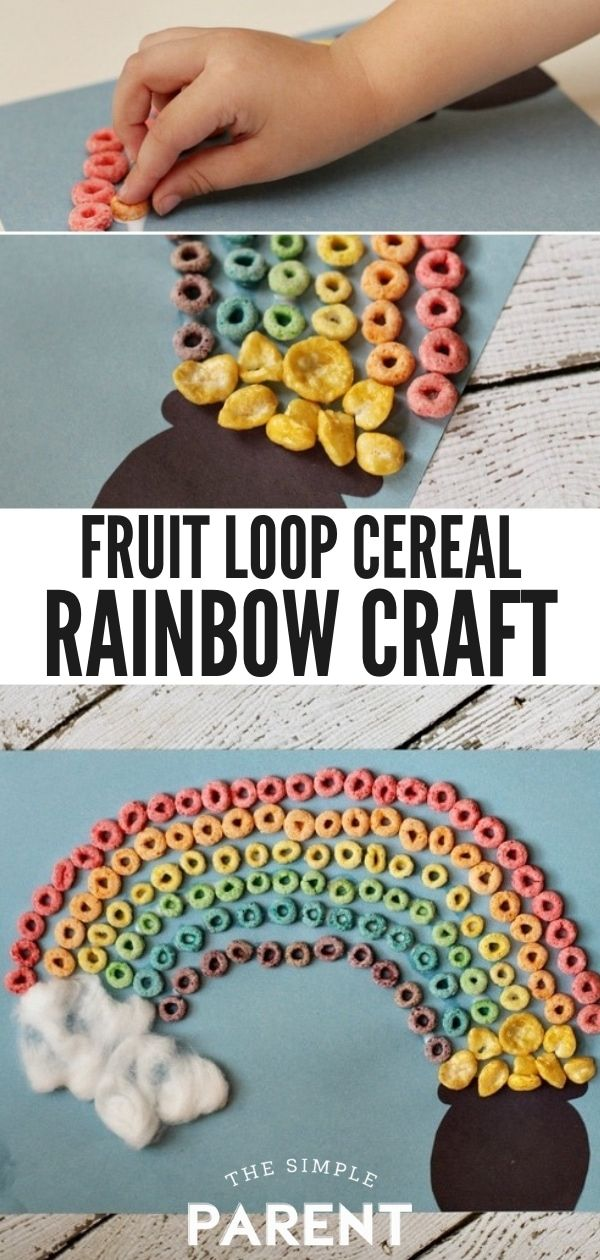 Photo of Froot Loops Rainbow Craft for St. Patrick's Day • The Simple Parent