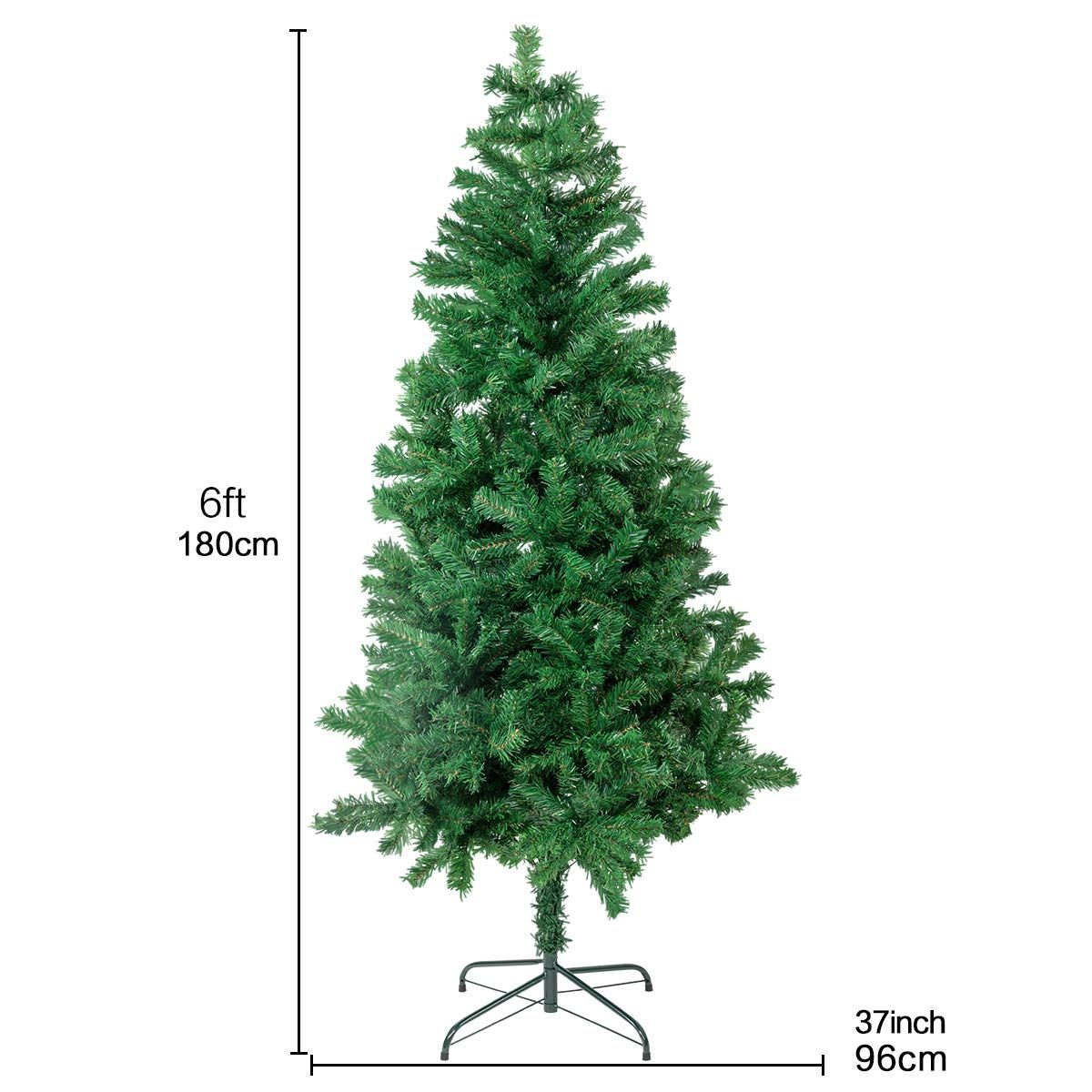 Bocca 6 Ft Christmas Artificial Pine Tree Full Branches With Strong Iron Stand Indoor And Outdoorgreen You Can Find More Details By Vi Tree Christmas Indoor