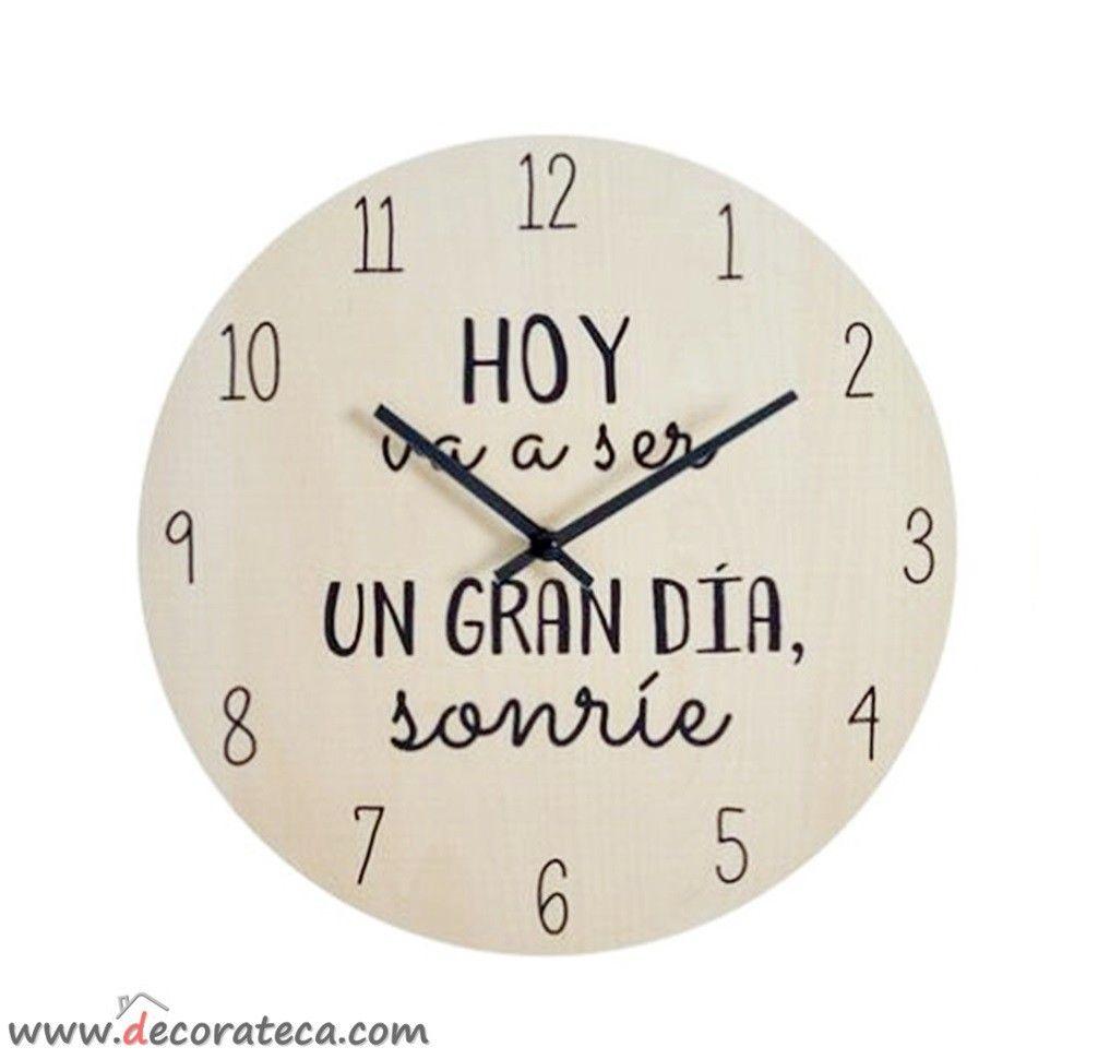 Bonito y original reloj de pared con la bonita y - Reloj pared original ...