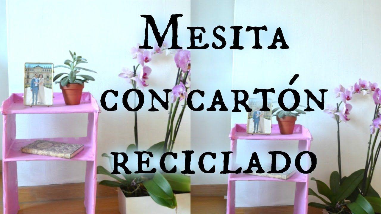 Manualidades con cart n mesita con cart n reciclado - Manualidades con muebles ...