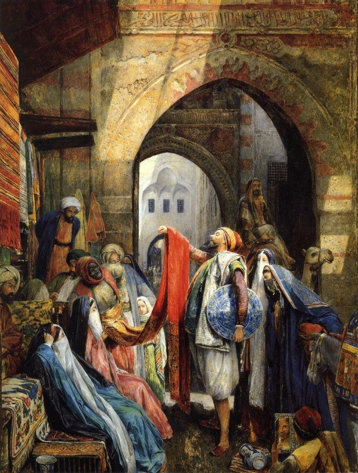 A Cairo Bazaar, The Dellal  John Frederick Lewis, RA - 1875