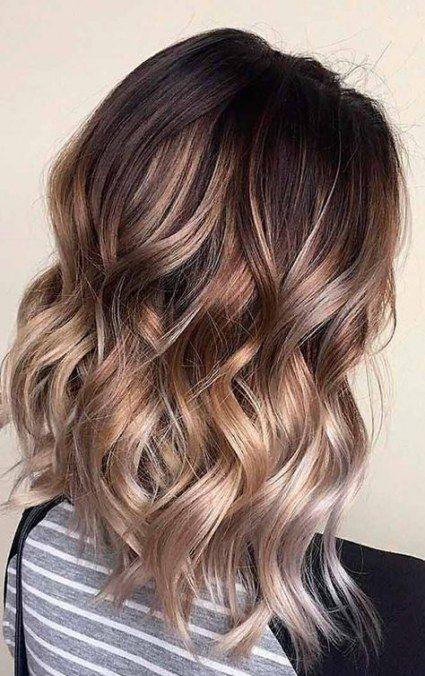 31 Ideas Hair Wavy Brown Natural Hair Styles Brown Ombre Hair Medium Length Wavy Hair