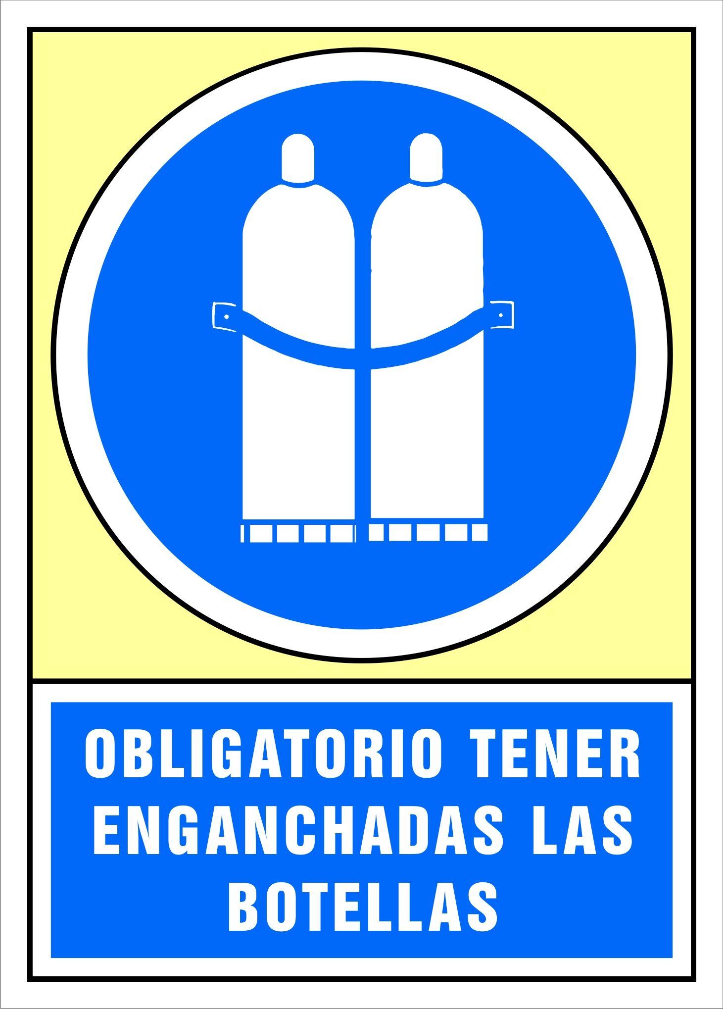 Senal Obligatorio Tener Enganchadas Las Botellas Carteles De