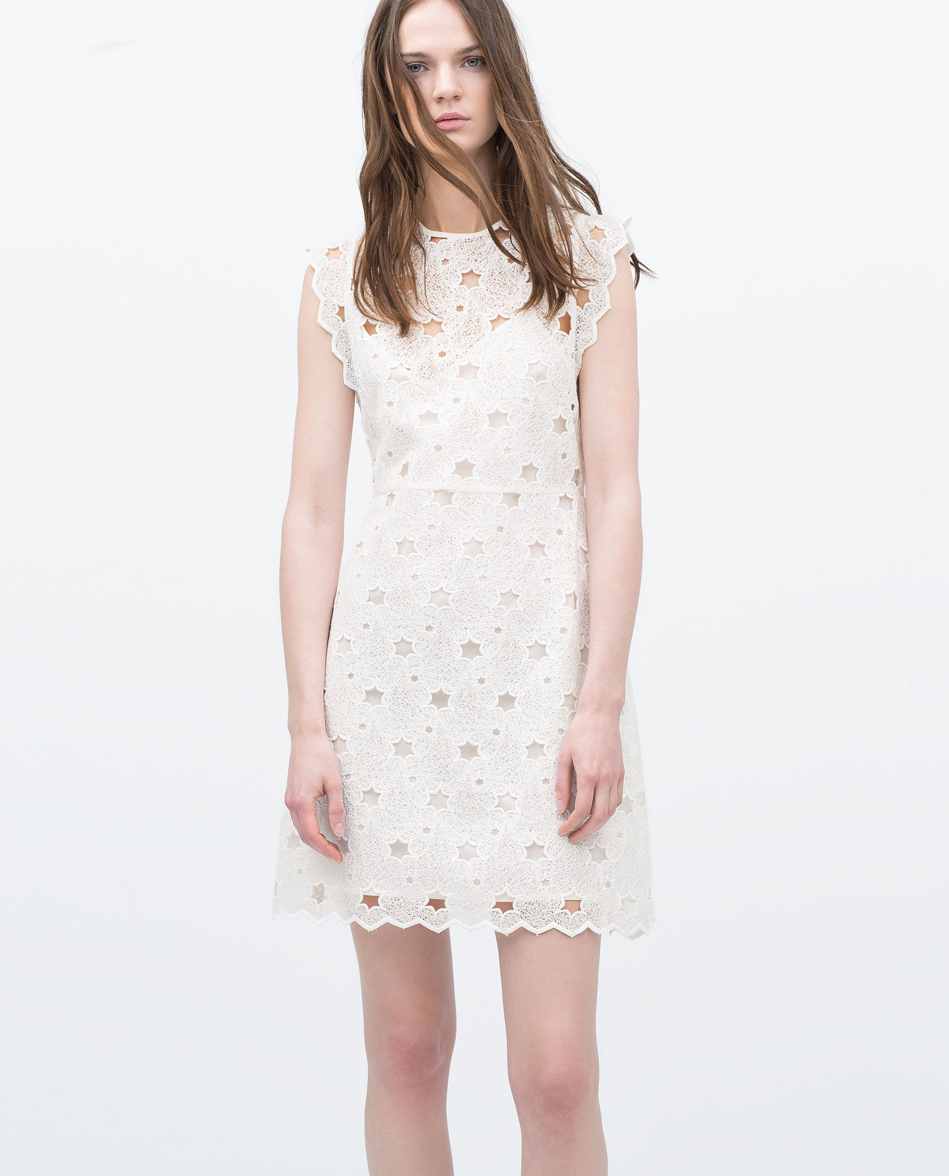White dress at zara - Guipure Stars Dress View All Dresses Woman Zara United States