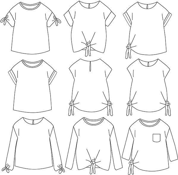 top peony pdf 3 12a patron de couture blouse patron de couture et tee shirts. Black Bedroom Furniture Sets. Home Design Ideas