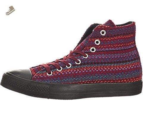 Converse Womens Chuck Taylor All Star Textile Hi Shoes, Size: 7 B(M) US  Womens, Color: Oxheart/Larkspur/Black