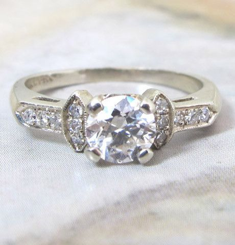 Trussed .65ct Late 1930's Engagement Ring
