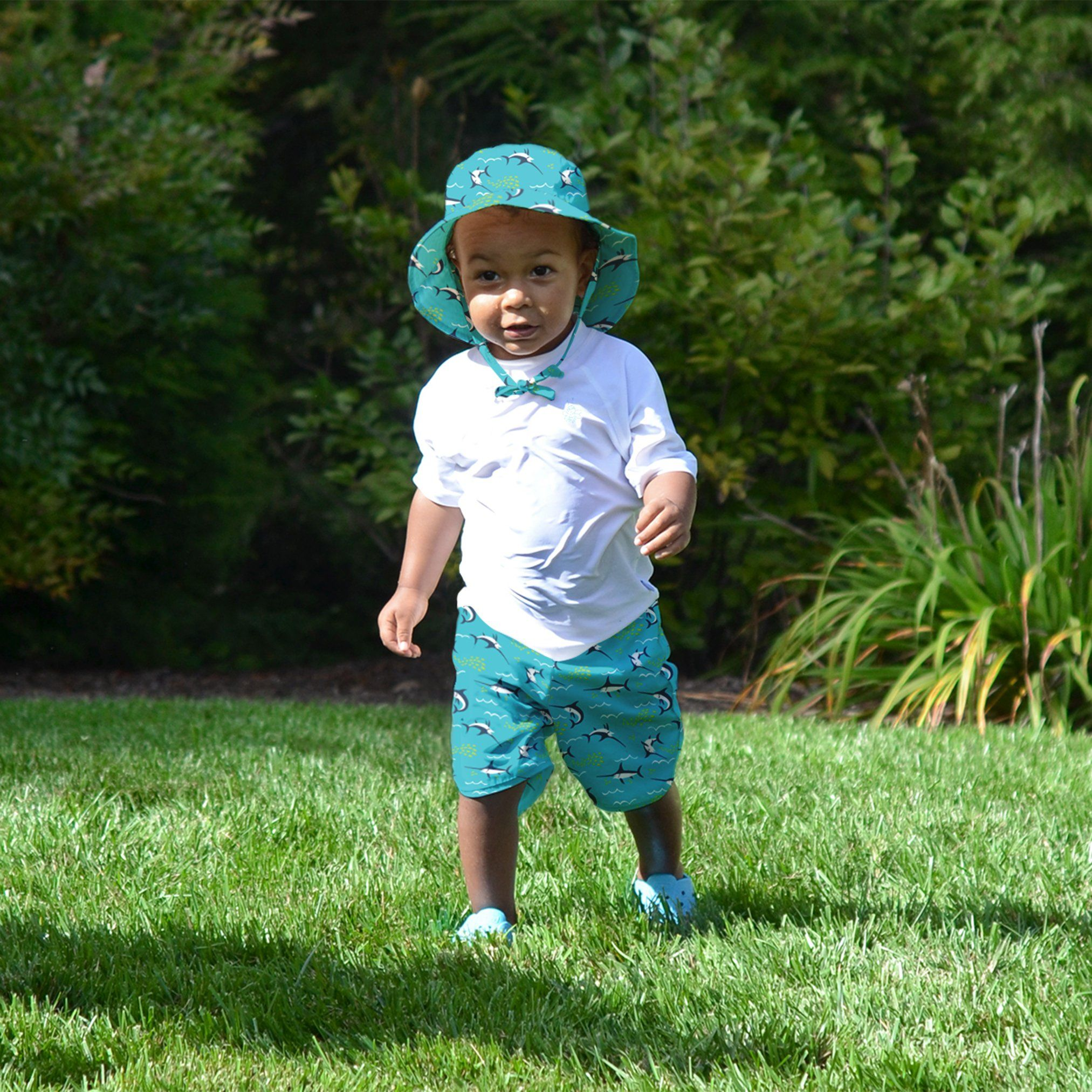 by green sprouts Baby-Boys Trunks with Built-in Reusable Swim Diaper Swim Trunks i play