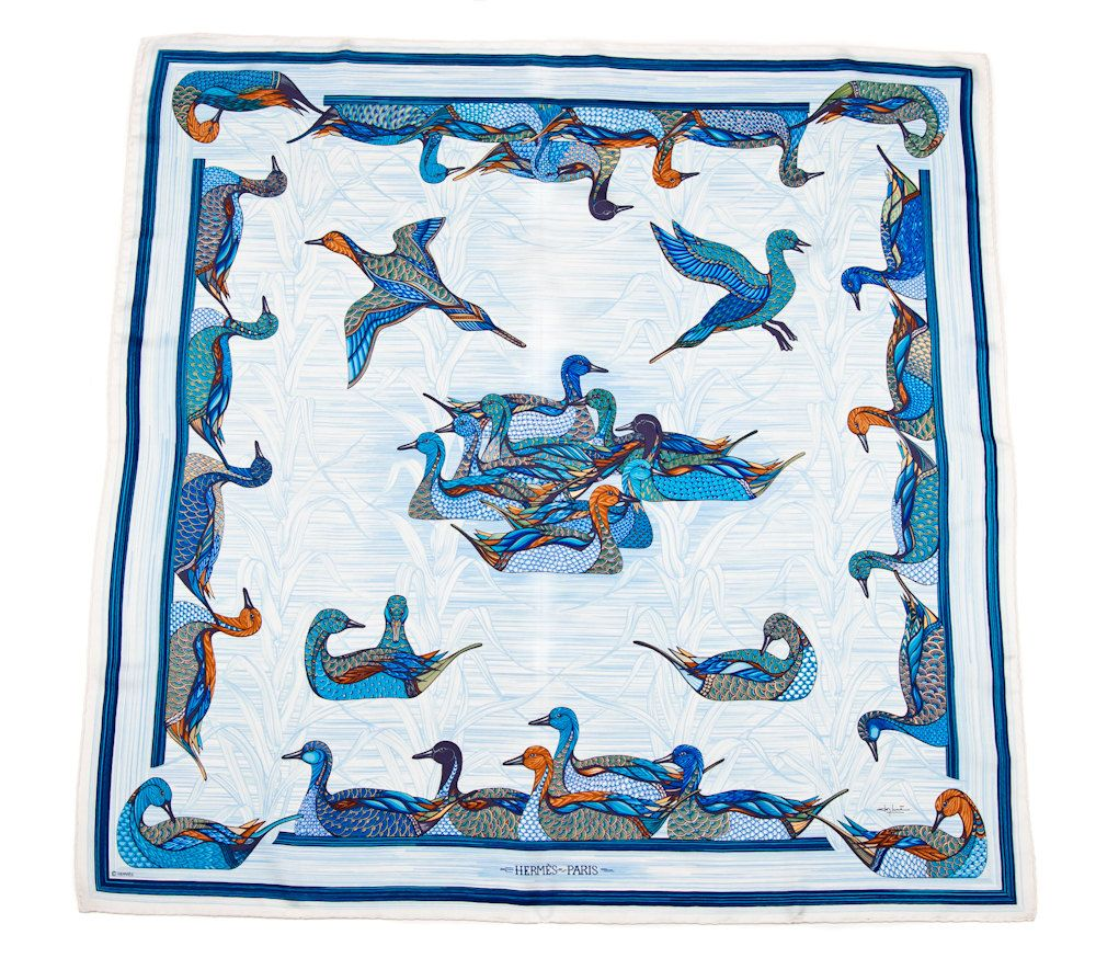 HERMES Vintage Silk Scarf, so good for keeping your hair out of your way