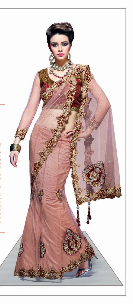 New Designer Ethnic Sari Indian Dress Saree Wedding Party Bollywood ...