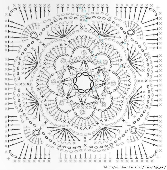 ff (687x700, 353Kb) | croche para todos | Pinterest | Crochet ...