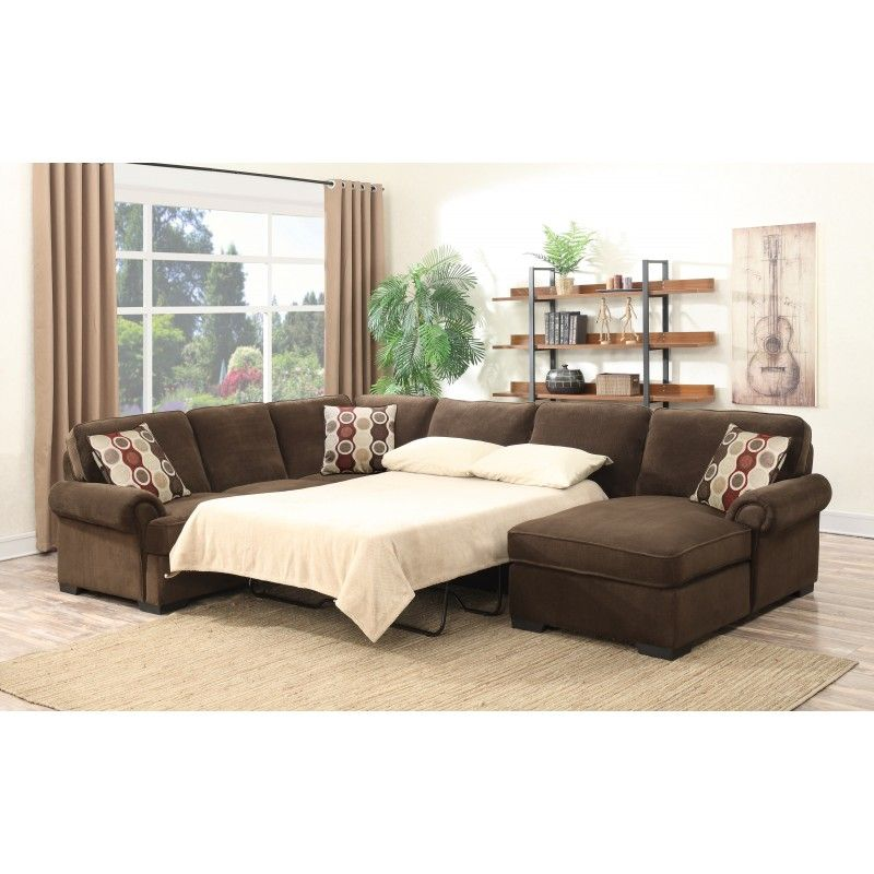 Best Quality 3Pcs Padded Brown Fabric Suede Sectional Sofa 400 x 300