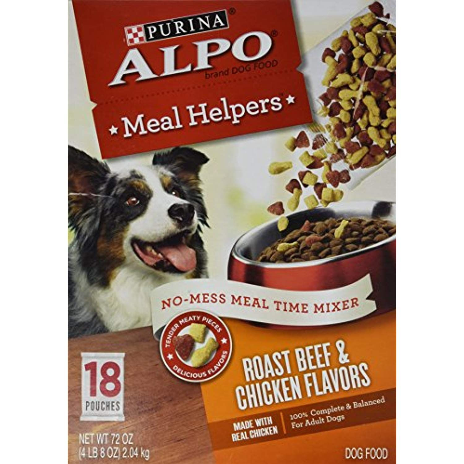 Purina Alpo Meal Helpers Roast Beef And Chicken Flavors Dog Food