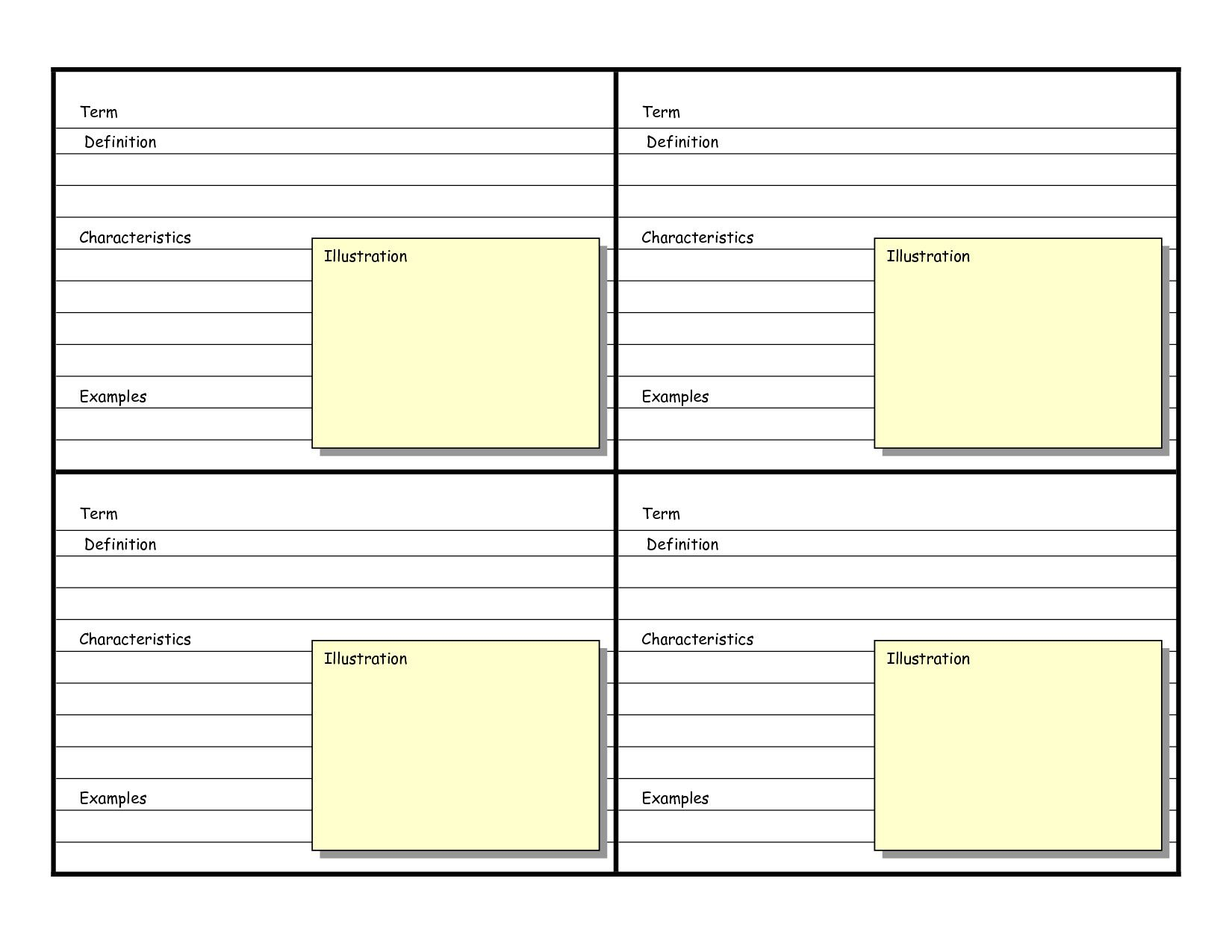 Charmant Note Card Template Word Note Card Template Word 9