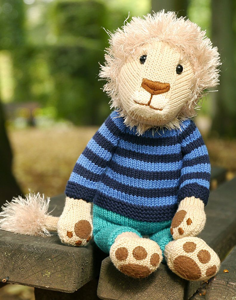 Knitting Pattern for Nelson the Lion Toy - This lion softie can be ...