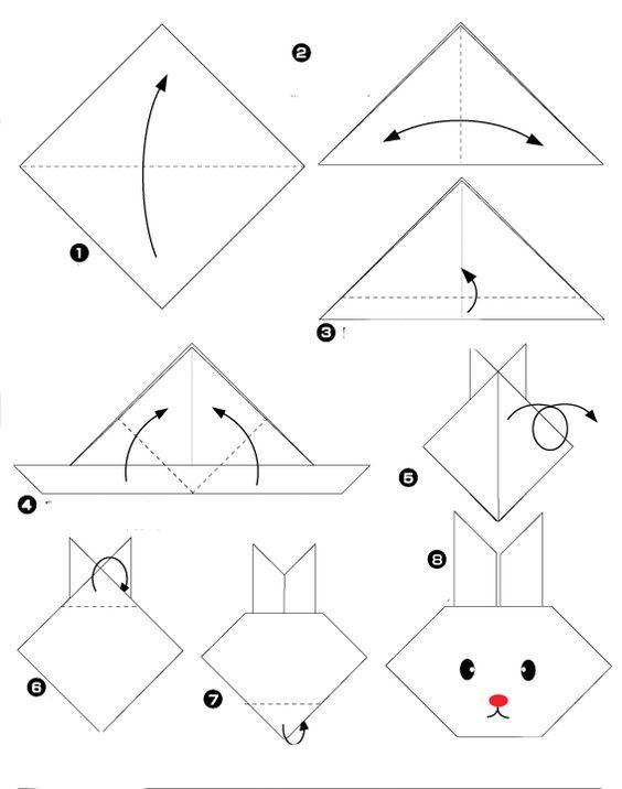 origami facile animaux lapin