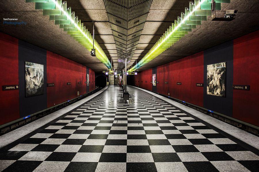 Subway Station In Munich Germany Metro Subway Metro
