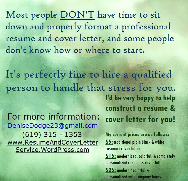 How To Construct A Resume Creating A Resume & Cover Letter Doesn't Have To Be Time Consuming .