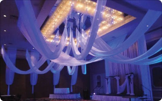 Event drapes drapings florida ceiling drapings and for How can prom venues be decorated