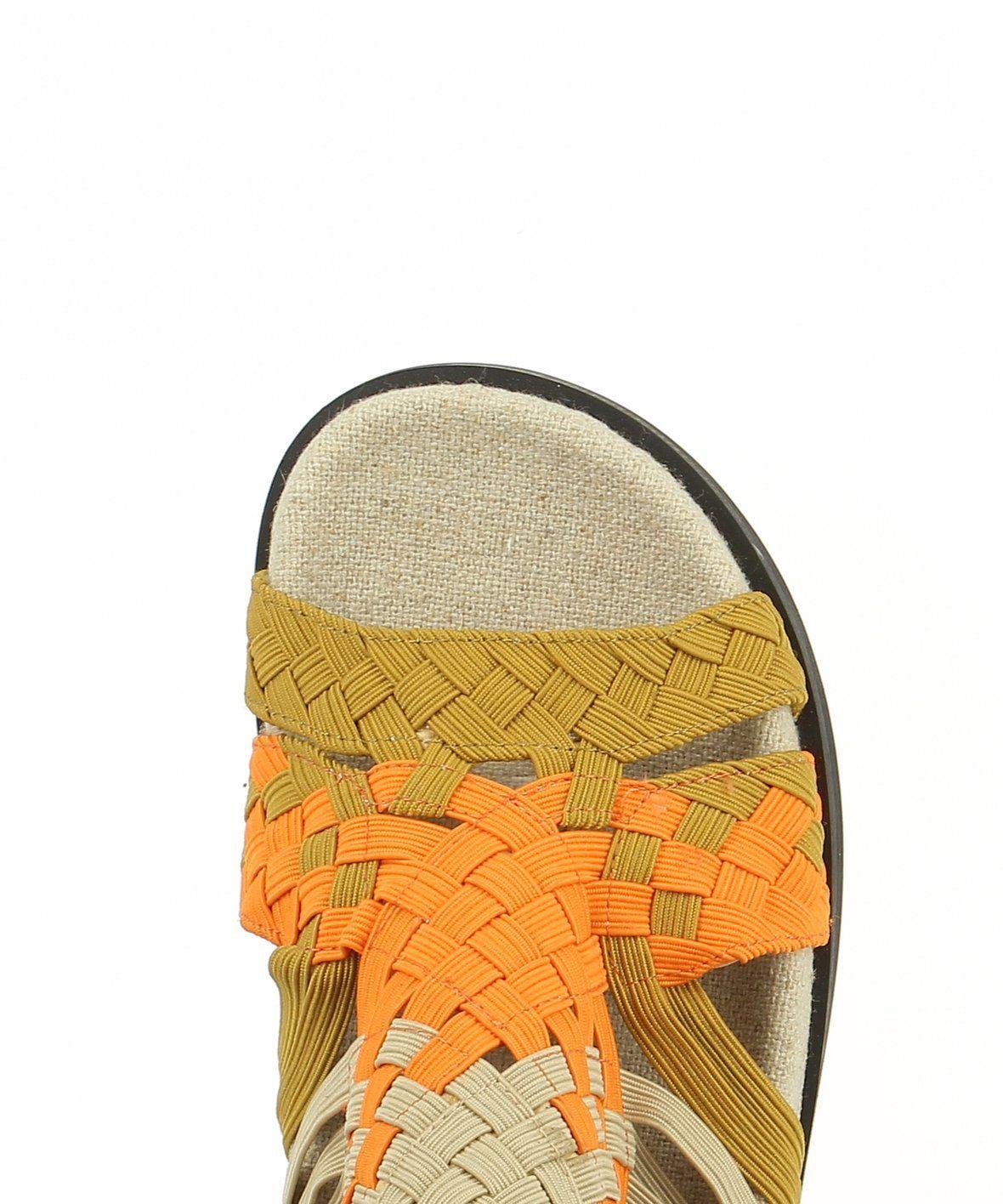 2 Baia Vista Velda Brown Multi Zomp Shoez Woven Ankle Strap Sandals