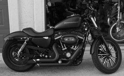 Iron 883 w/ Vance & Hines pipes. Love this!