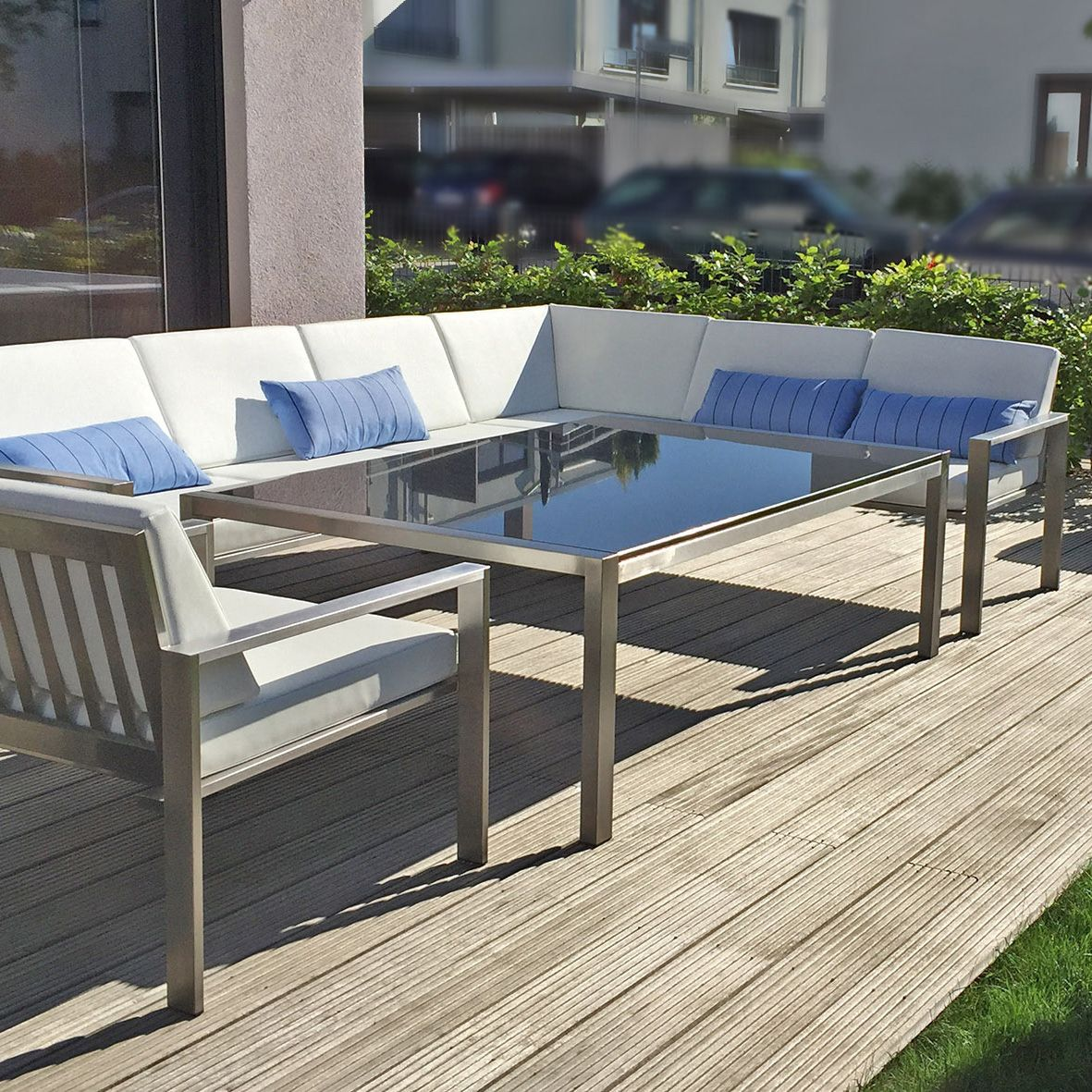 Siena Garden Lounge Set Pescara Bronze Aluminium X2f Geflecht