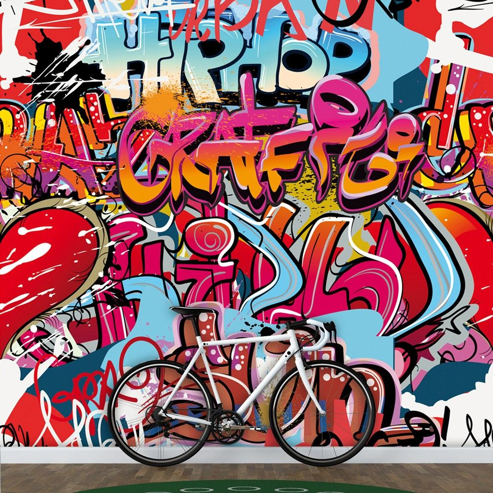 HIPHOP GRAFFITI WALL MURAL 300CM X 280CM Exhausted