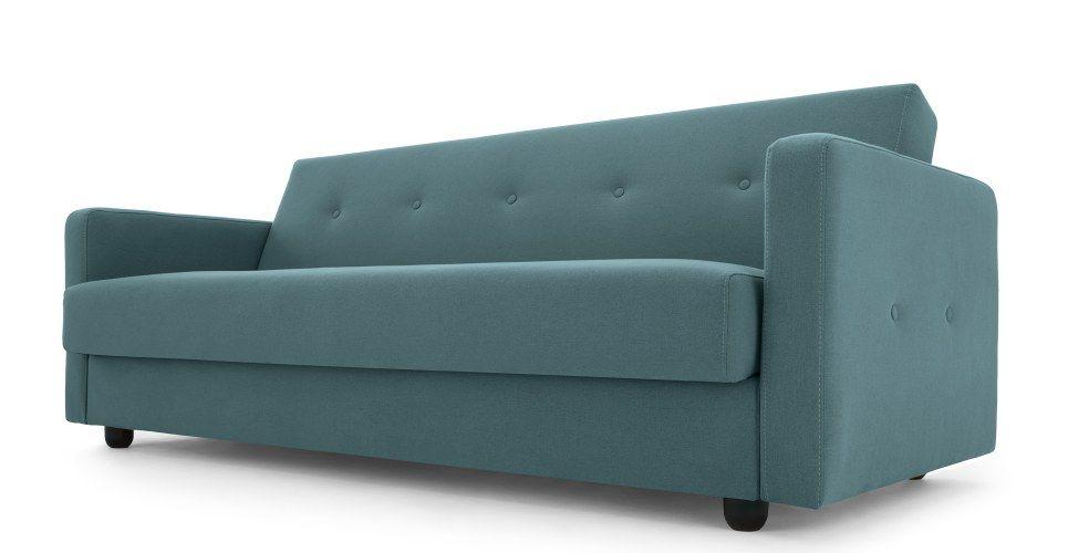 Made Sherbet Blue Sofa Bed Sofa Bed With Storage Retro Sofa
