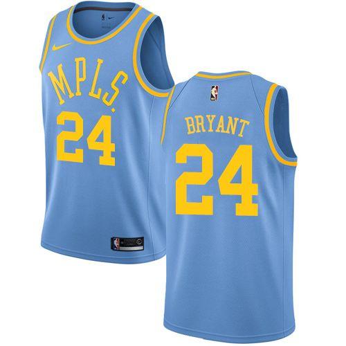 caa713aa1000 Nike Lakers  24 Kobe Bryant Royal Blue NBA Swingman Hardwood Classics Jersey