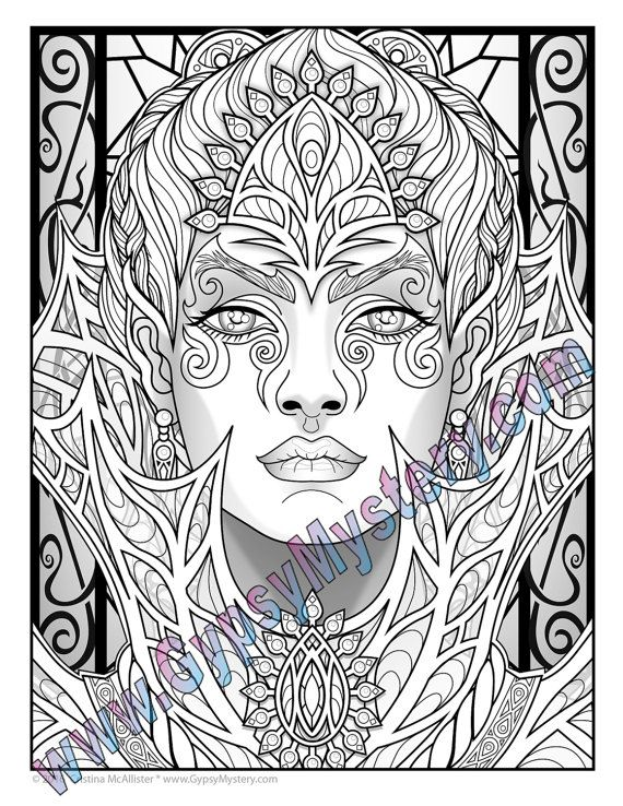 single coloring page fey enchantress from the magical beauties collection download print color - Coloring Pages For Paint Program