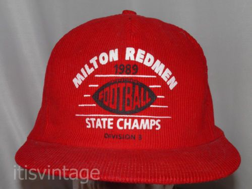 Vintage 1989 Milton Redmen State Football Champions Snapback Hat Cap   milton  redmen  snapback  football  cap  hat  itisvintage a1f3a6caf9e1