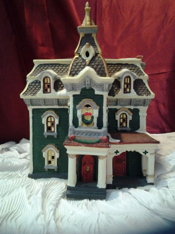Vintage Village Victorian House by Holiday Time