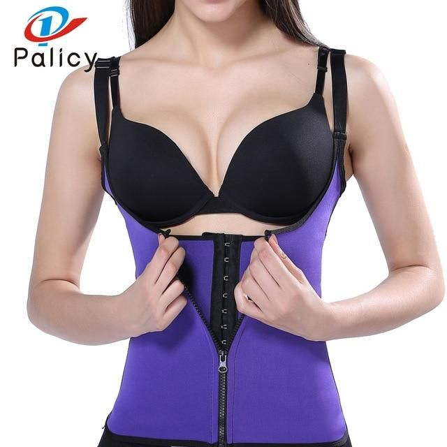 3b6fdb112d Palicy Bodysuit Women Modeling Strap Slimming Waist Trainer Fat Burning  Body Shaper Tummy Waist Cincher Tank Shapewear Plus Size