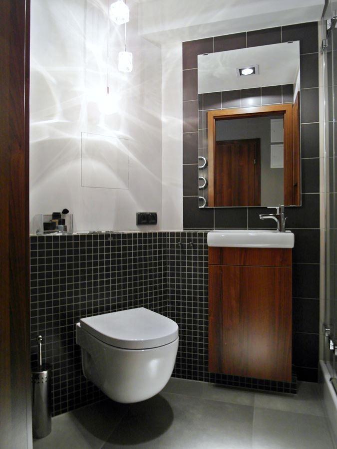 Mała łazienka z prysznicem - Inspiracja - HomeSquare ...