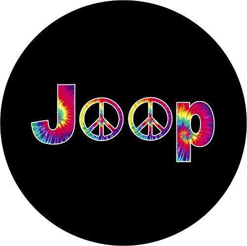 Sensational Jeep Peace Sign Tie Dye Spare Tire Cover Select Popular Sizes In Hairstyle Inspiration Daily Dogsangcom