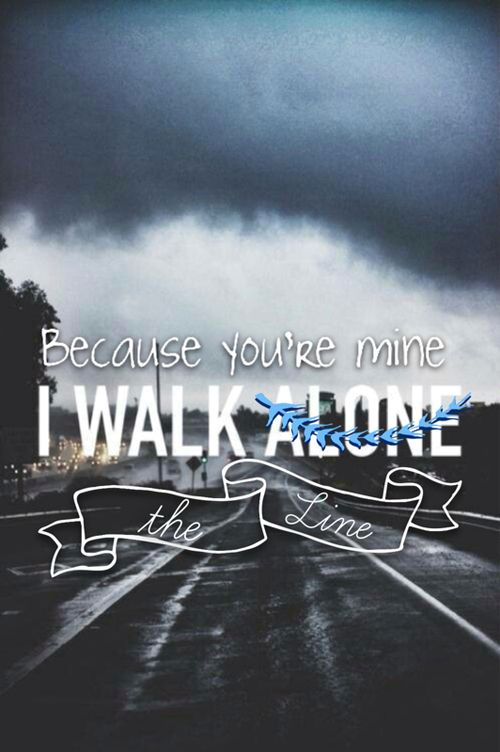 I'm not alone. Because you're mine. I walk the line. | We Heart It