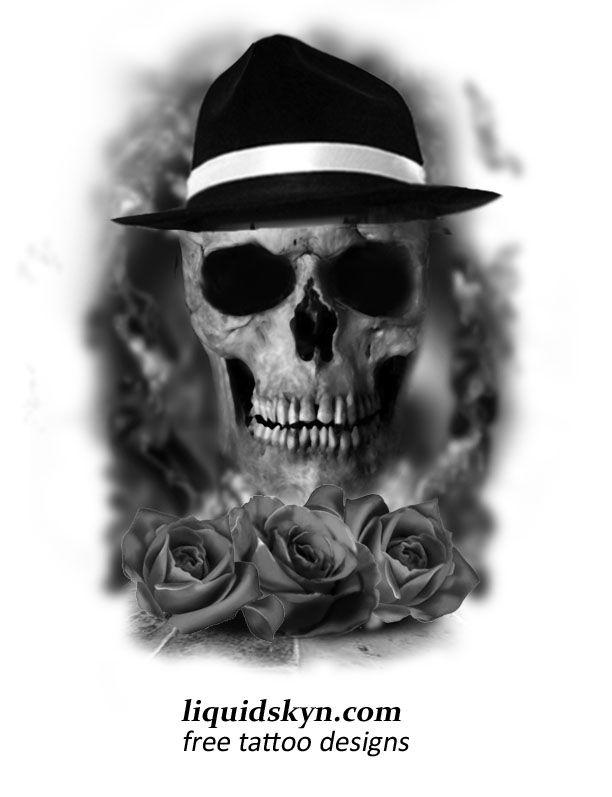 Gangster Skull Tattoo Designs Skull Tattoos Skull Free Tattoo Designs