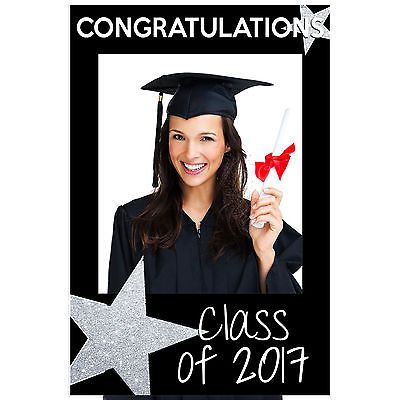 Class Of 2018 Graduation Star Selfie Frame Social Media Poster