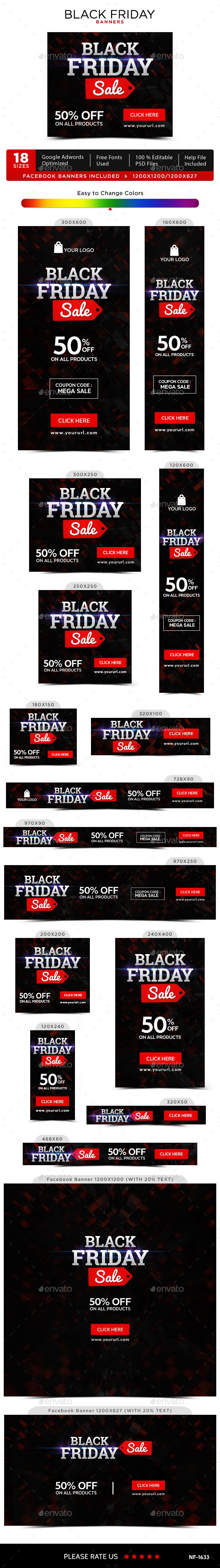 Black Friday Banners Cores