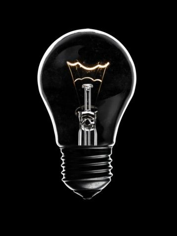 Glass Light Bulb With Glowing Elements On Black Background Light Bulb Different Light Bulbs Glass Lighting