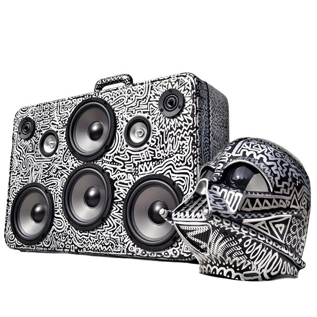 This Vintage Suitcase Is Actually a New/Old School Boombox via Brit + Co