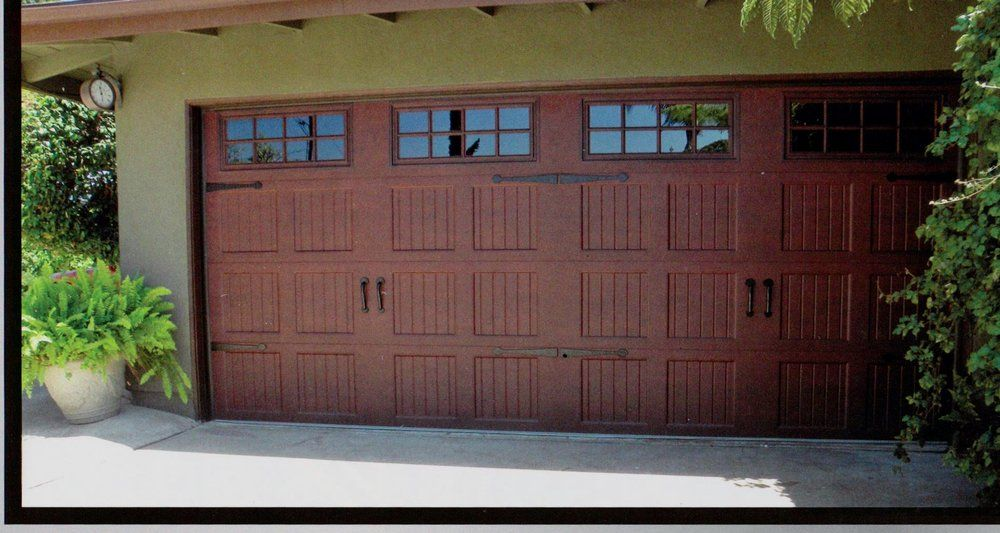 Wayne dalton garage doors faux wood finish pinterest for Garage door finishes