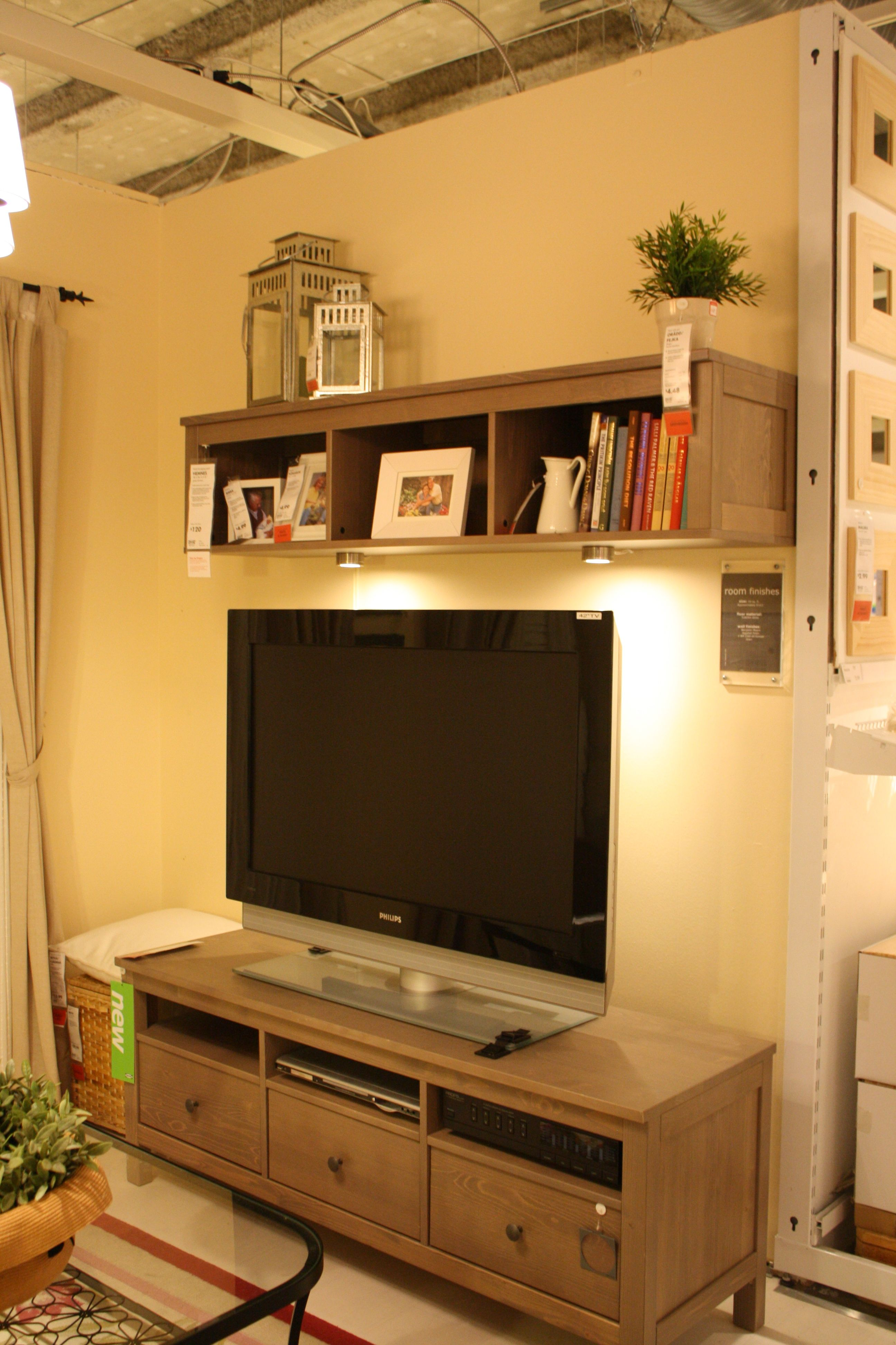 Pin By Barbed Wire On Ikea Tv Decor Shelf Above Tv