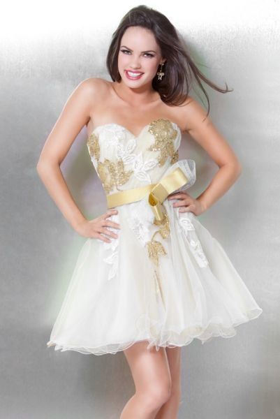 e260e08ebf MODA SIEMPRE ELEGANTE  JOVANI - Colección Vestidos de Fiesta Cortos 2012 - 1