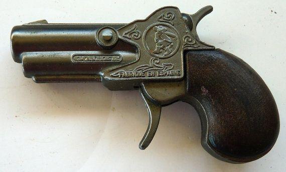 Gonher No 56 vintage toy cap Derringer pistol gun Spain pistol die